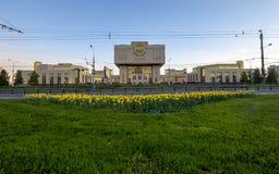 Biblioteca fondamentale nell'universit? di Stato di Mosca, Russia fotografia stock