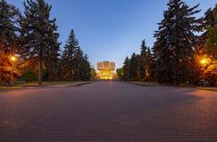 Biblioteca fondamentale nell'universit? di Stato di Mosca, Russia fotografia stock libera da diritti