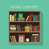 Biblioteca home ilustração royalty free