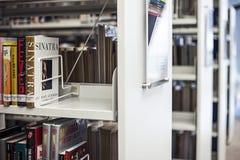 Biblioteca interna dell'istituto universitario di Lasalle delle arti Singapore Immagini Stock Libere da Diritti