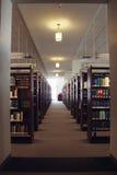 Biblioteca jurídica, luz en el extremo del túnel Fotos de archivo libres de regalías