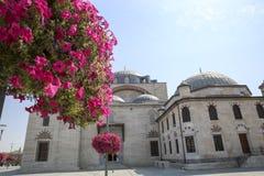 Biblioteca Konya Turquia de Yusuf Aga da mesquita de Selimiye imagem de stock