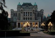 A biblioteca legislativa do Columbia Britânica imagens de stock