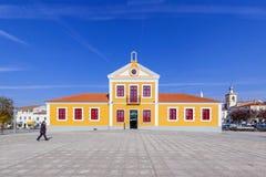 A biblioteca municipal de Nisa igualmente conhecida como o Dr. do Municipal de Biblioteca Motta e Moura Fotografia de Stock Royalty Free
