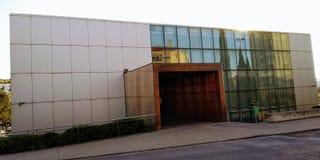 Municipal Library of Loures. Biblioteca Municipal José Saramago,  Loures, Portugal. Front Door stock photo