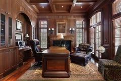 Biblioteca na HOME luxuosa Imagens de Stock