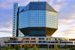 Biblioteca nacional de Belarus fotografia de stock