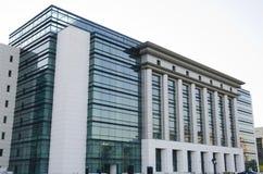 Biblioteca nacional de Bucarest Foto de archivo