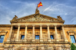 Biblioteca Nacional de Espana, the largest public library in Spain - Madrid Stock Photography