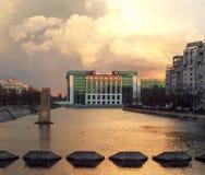 Biblioteca nacional de Rumania en Bucarest Imágenes de archivo libres de regalías