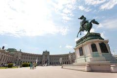 A biblioteca nacional de Viena fotografia de stock