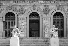 Biblioteca Nacional, Madrid photos stock