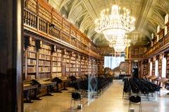 Biblioteca Nazionale Braidense en el palacio de Brera fotografía de archivo libre de regalías