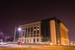 Biblioteca nazionale della Romania, Bucarest immagini stock libere da diritti