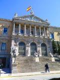 Biblioteca nazionale, Madrid Fotografia Stock