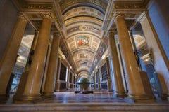 Biblioteca no castelo de Fontainbleau, França Imagens de Stock