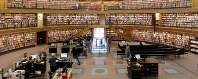 Biblioteca pública de Éstocolmo Fotos de Stock
