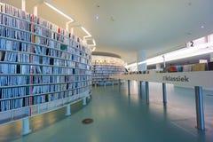 Biblioteca pública de Amsterdam Imágenes de archivo libres de regalías