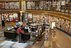 Biblioteca pública de Estocolmo fotografía de archivo libre de regalías