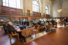 Biblioteca pública de New York Imagens de Stock