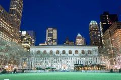Biblioteca pública de New York Imagem de Stock Royalty Free