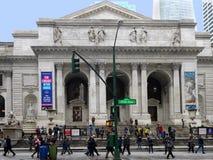 Biblioteca pública de New York Imagens de Stock Royalty Free