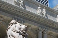 A biblioteca pública de New York City Foto de Stock Royalty Free