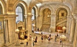 Biblioteca pública de Nueva York foto de archivo