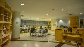 Biblioteca pública em Banguecoque, Tailândia foto de stock
