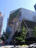 Biblioteca pública en Seattle Foto de archivo