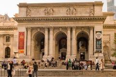 Biblioteca pública na 5a avenida, Bryant Park, Manhattan, Y novo Imagem de Stock Royalty Free