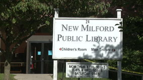 Biblioteca pública nova de Milford (1 de 3) video estoque