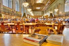 Biblioteca pubblica di New York Immagini Stock
