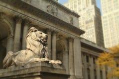 Biblioteca pubblica di NY Fotografie Stock