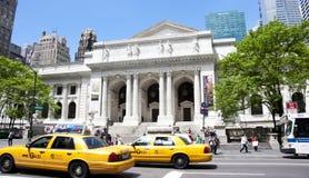 Biblioteca pubblica di NYC Fotografie Stock Libere da Diritti