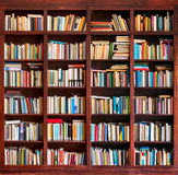 A biblioteca registra o fundo Fotos de Stock