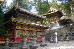 A biblioteca santamente de Sutra, Nikko, Japão imagem de stock