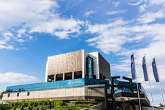 A biblioteca Silesian em Katowice Foto de Stock Royalty Free