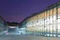 Biblioteca sotterranea dell'università della donna di Ewha - Seoul, Corea del Sud Fotografie Stock Libere da Diritti