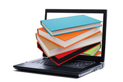 Biblioteca su Internet fotografia stock