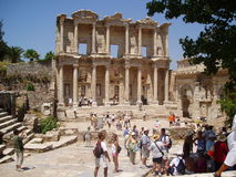 A biblioteca Turquia de Celsus foto de stock