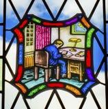 Biblioteca Yale University New Haven Connecticut de Stained Glass Law da estudante de Direito imagem de stock