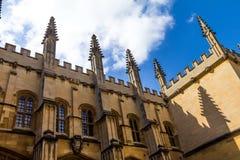 Bibliotecas de Bodleian oxford imágenes de archivo libres de regalías