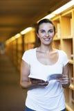 biblioteczna kobieta Zdjęcie Stock