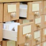 Biblioteczny katalog Fotografia Stock