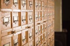 Biblioteczny katalog Obraz Royalty Free