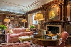 Biblioteczny pokój w Hever kasztelu Obrazy Royalty Free
