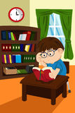 biblioteczny uczeń royalty ilustracja