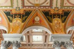 Biblioteka Kongresu w washington dc wnętrzu Zdjęcie Royalty Free