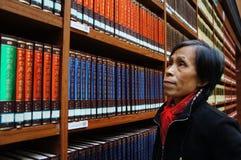Biblioteka, półka na książki Obraz Royalty Free